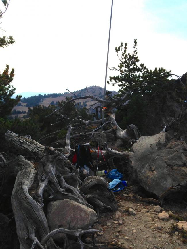 Operating position at top of Applegate Peak