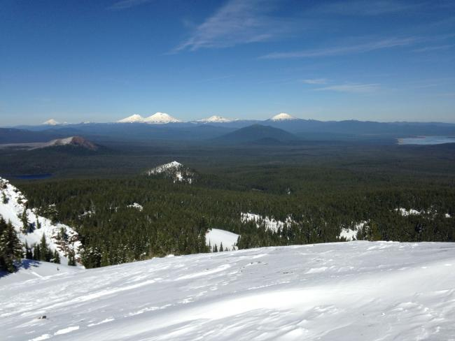 The Three Sisters and Bachelor from Summit