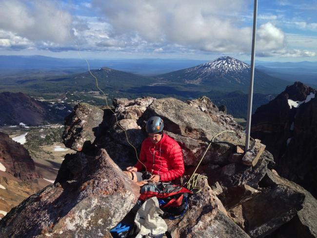QRV from the summit. Mt Bachelor in the background.