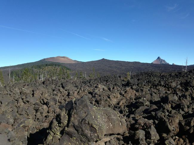 From left; Belknap crater, Little Balknap, Mount Washington