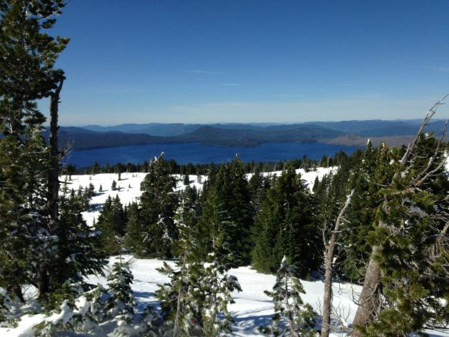View of Waldo Lake from the hamshack