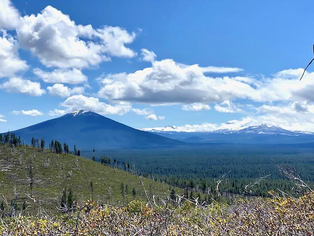 Views of Black Butte and North Sister from the Summit