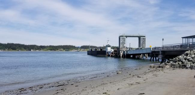 Anacortes Guemes ferry dock...looking North at Guemes Island