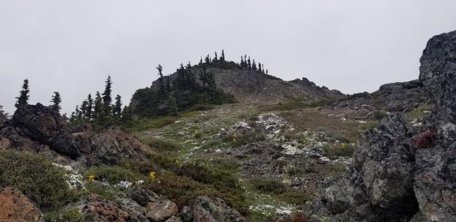 Nearing Eagle Point summit