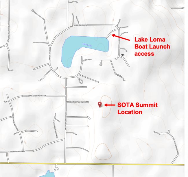 Public Loma Lake boat access is just northeast of SOTA summit